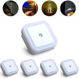 5 Pack Plug-in LED Night Light Wall Lamp Dusk To Dawn Sensor