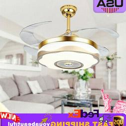 """42"""" Ceiling Fans Light Invisible Chandelier LED Night Light"""