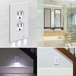 5* Duplex Wall Plate Outlet Cover With LED Night Lights Ambi