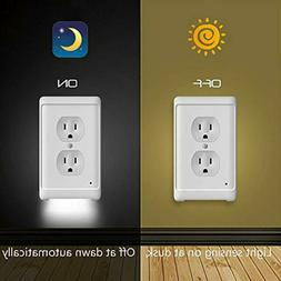 5PCS/set Duplex Wall Plate Outlet Cover w/ LED Night Lights