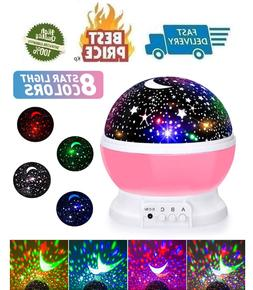 Baby Night Lights Moon Star Projector 360 Degree Rotation 4