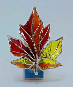 Bath & Body Works Stained Glass Autumn Leaf Night Light Wall