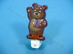 Leviton Brown Bear Night Light Auto ON/OFF Dusk Dawn 6505-BE