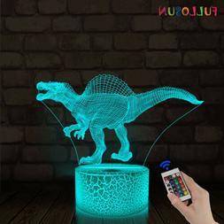 Dinosaur Gifts,3D Illusion Night Light LED Lamp for Kids Roo