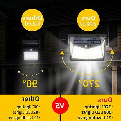 208 LED Solar Lights Wall Lamp Outdoor
