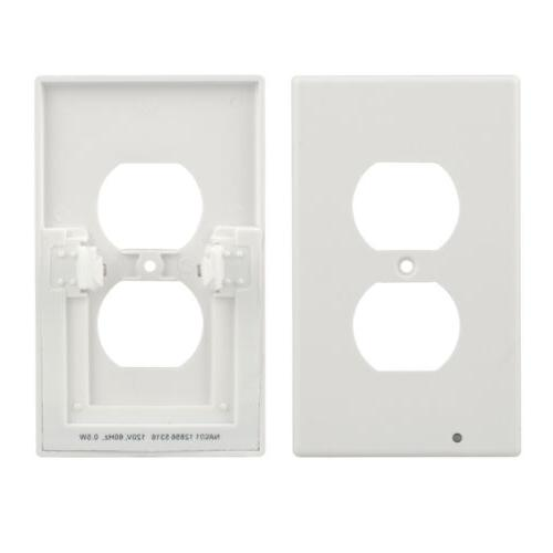 4x Wall Outlet Plate 2 LED Night Bedroom