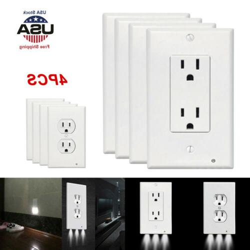 4x wall outlet cover plate 2 plug