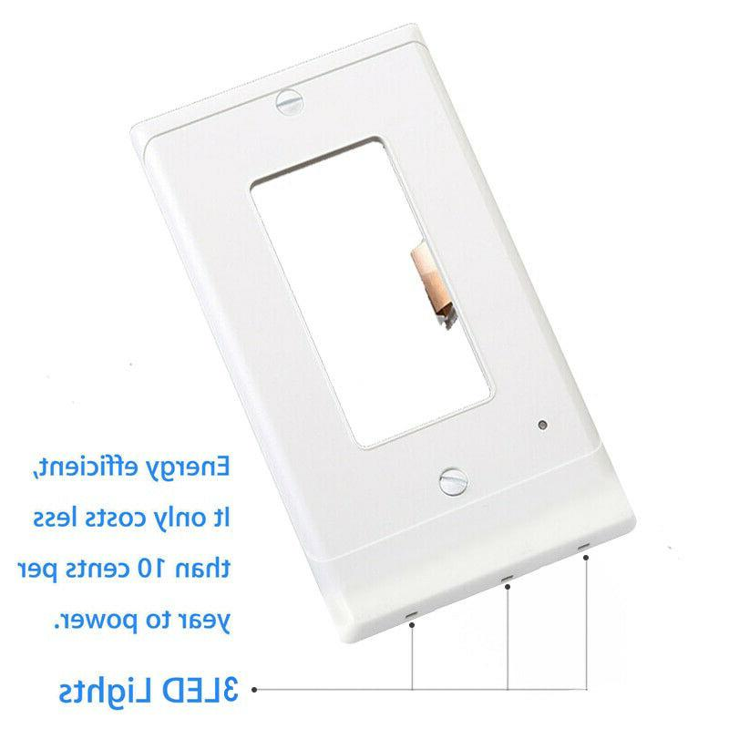 5 Outlet Wall Plate Night Lights Cover Light Motion Sensor