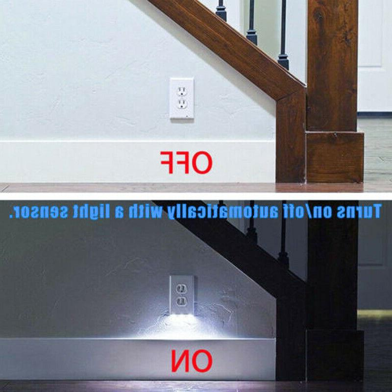 5 Wall Plate LED Cover Safety Light Motion