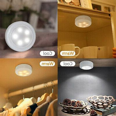 6Pcs Puck Lights Cabinet Lighting Remote