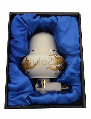 Porcelain Lamp Candle Aromatherapy Oil  With Dragon and Phoe