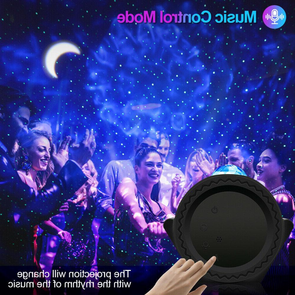 Galaxy Starry Projector Night Light LED Star Ocean Wave Lamp Gift