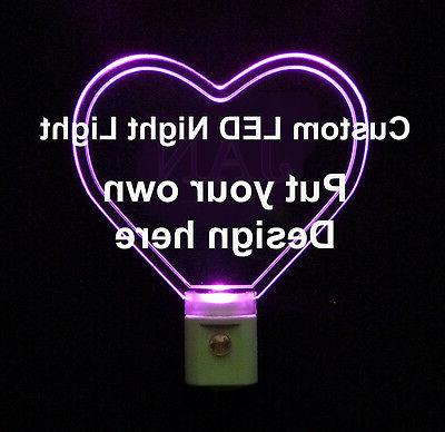heart shaped personalized led light use your