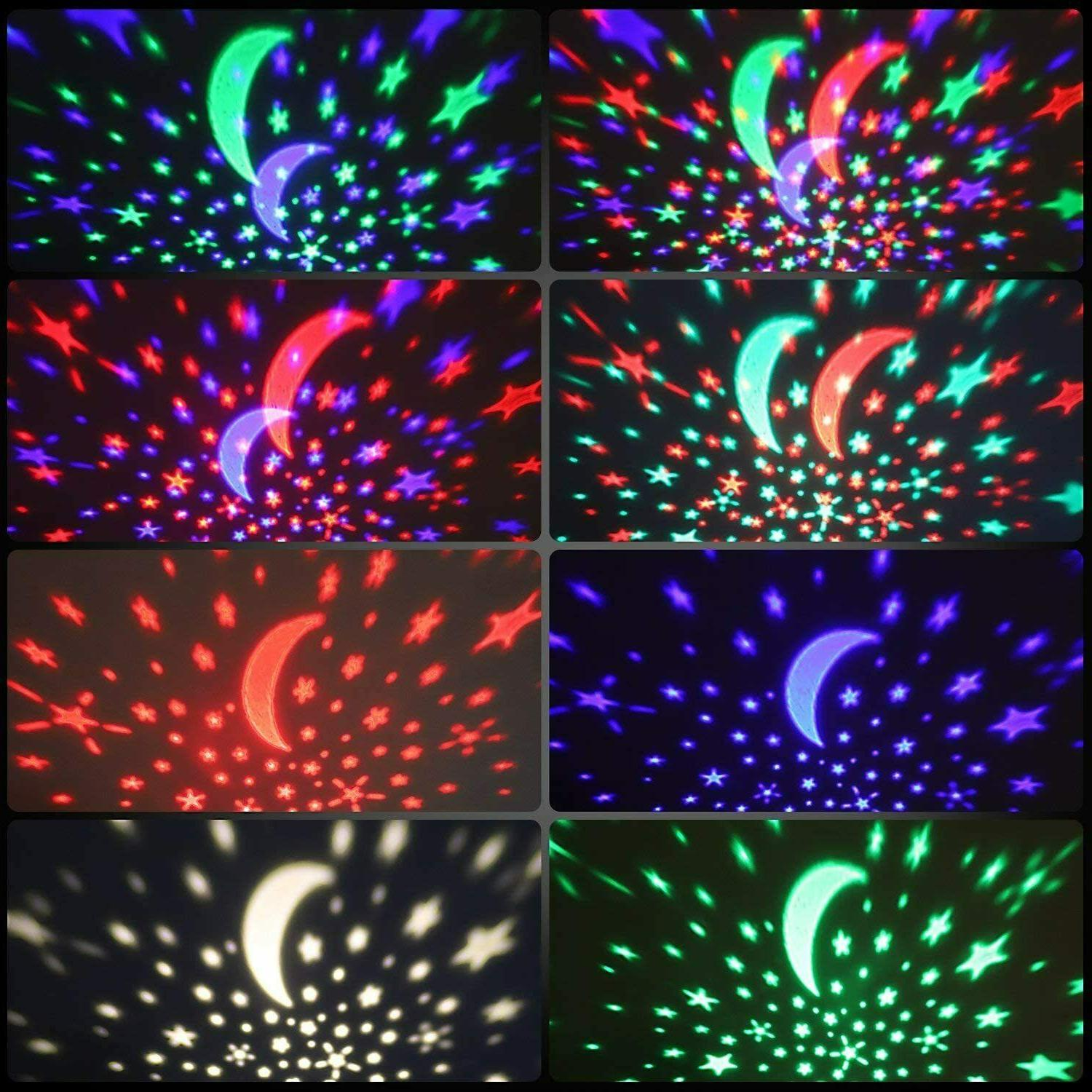 Kids Moon 360-Degree Rotating Star Projector