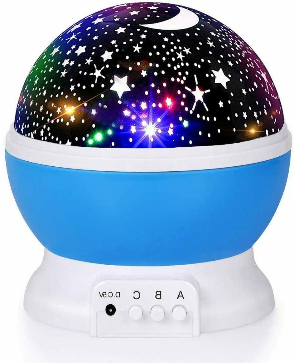 kids star night light moon star light