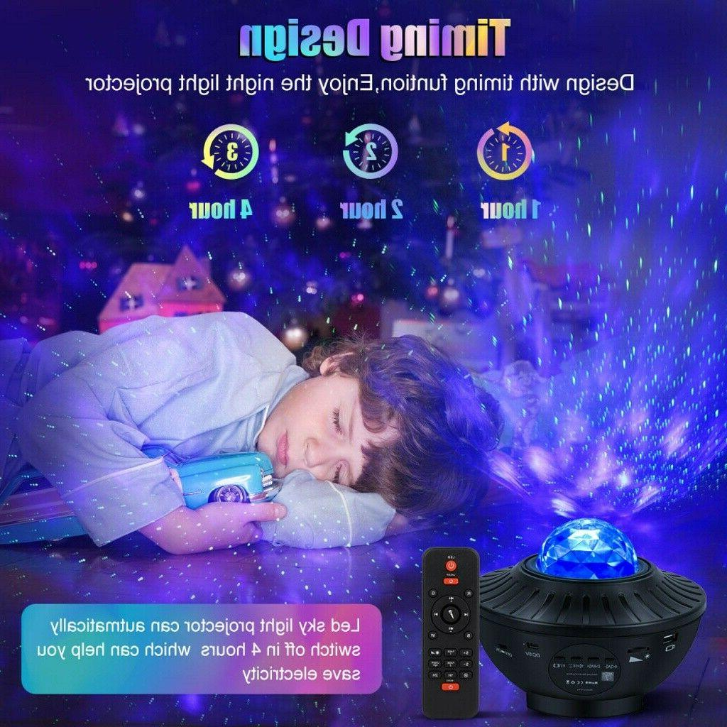 LED Starry Light Projector Star Sky Lamp Remote