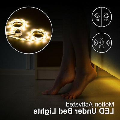 new motion activated led under bed cabinet