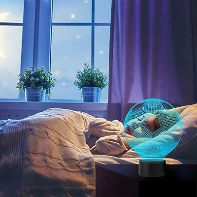 Night for Children 3D Illusion Lamps Football