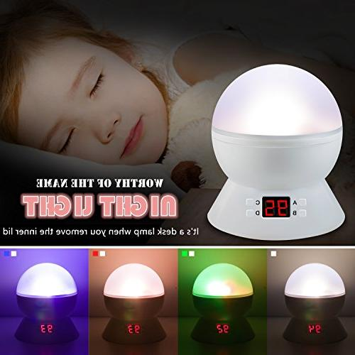 Night Lights Multiple Colors Projector with Function, Night Light Baby Boys