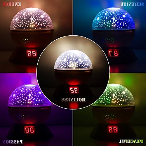 Night Lights Kids, Multiple Colors Rotating Projector Function, Light Baby Girls