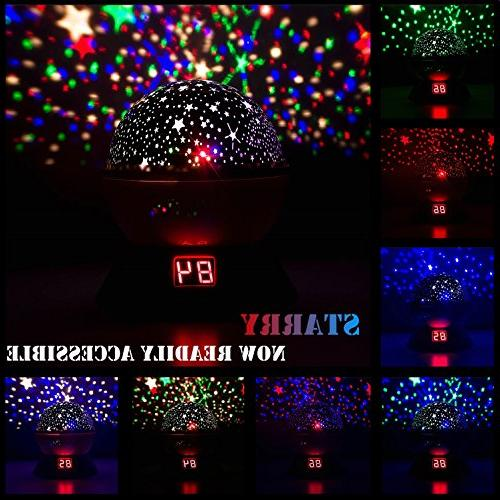 Night Lights Kids, Multiple Star Projector with Timing Shutdown Function, Light for Baby and
