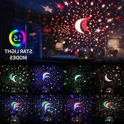 Star Projector, Night for 360-Degree Star Projection