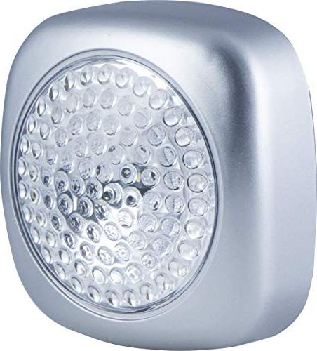 Energizer LED Tap Lights, 2 Pack, Operated, Soft White On/Off, Convenient, Finish, Perfect for Cabinets, Nursery,