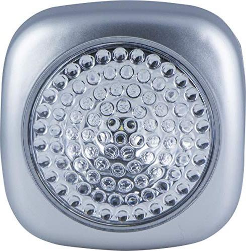 2 Operated, Soft Light, On/Off, Wireless, Portable Convenient, Silver for Under Nursery, Bathroom, 37107