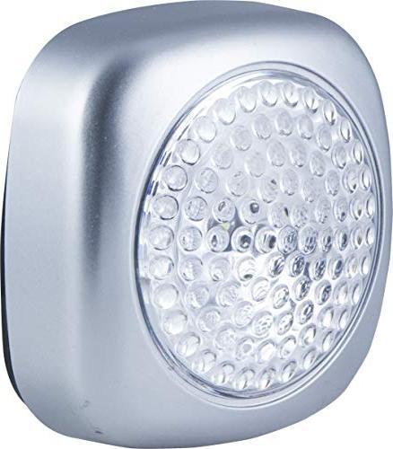 Energizer LED Tap Lights, 2 Pack, Battery Operated, Soft On/Off, and Convenient, Silver Perfect for Under Nursery,