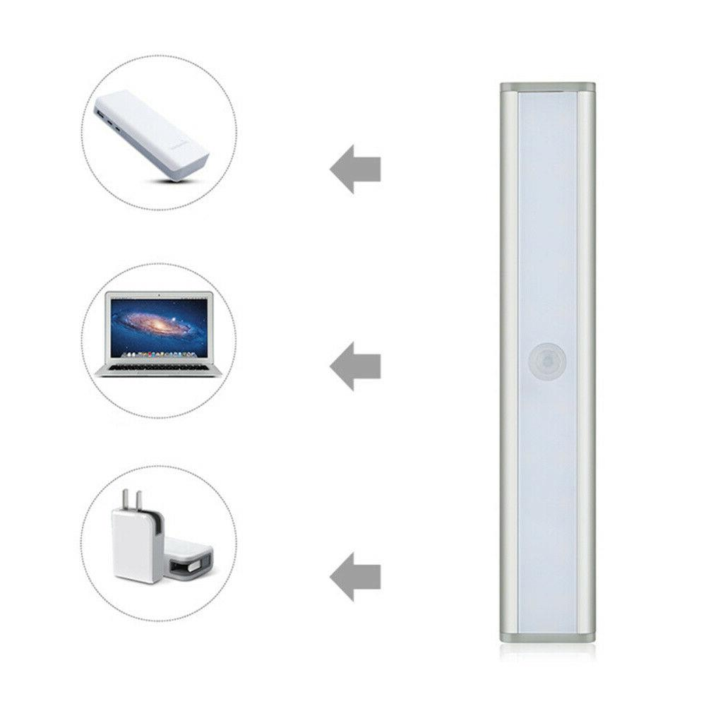 USB Rechargeable LED Closet Lights Wireless Sensor Under Lighting