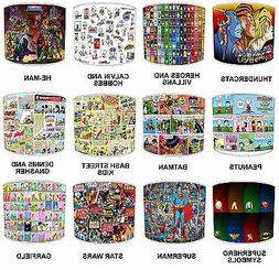 Lampshades Ideal To Match Comic Book Super Heroes Bedding Se