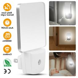 LED Night Light Lamp Plug in With Auto Dusk to Dawn Sensor f