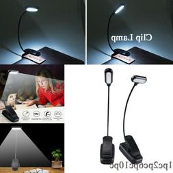 Mini Night Light Clip on Book Reading LED Table Lamp Battery