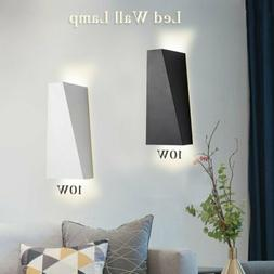 Modern 10W LED Wall Light Up Down Cube Style Bedroom Wall Sc