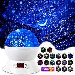MOKOQI Star Projector Night Lights for Kids with Timer, Room
