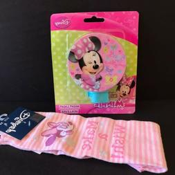 NEW Disney Minnie Mouse Lot for Girls Night Light & Pink Soc