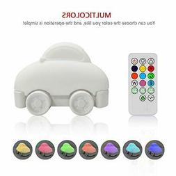 Night Light for Kids, YHTechnology Soft Silicone Car Baby Nu