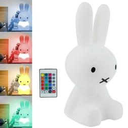 Night Lights for Kids Bunny Shaped With Remote Control  LED