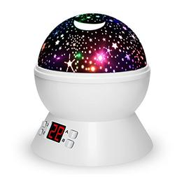 Night Lights for Kids, Multiple Colors Rotating Star Project
