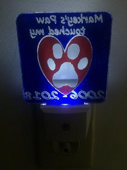Paw touched my heart LED Acrylic Night Light sensor Personal