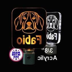 Personalized Beagle LED Night Light *Design your own Puppy L