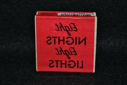 Rubber stamp -Eight Nights Eight Lights - Craft Smart - comb