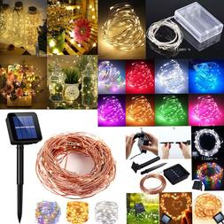 Solar LED String Lights Copper Wire Waterproof Outdoor Fairy