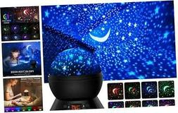 Star Projector, Night Lights for Kids 360-Degree Rotating St
