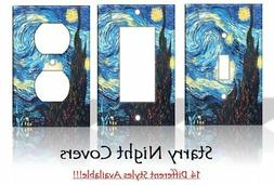 Starry Night Vincent Van Gogh Painting Light Switch Covers H