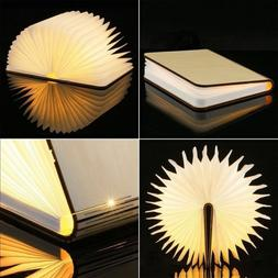 Warm Book Light USB Rechargeable Magnetic Wooden Folding LED